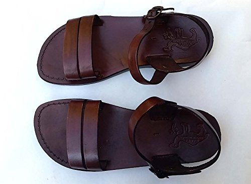 Brown Leather Size Us Men'S 10 Women'S 12 Eu44 Greek Roman Jesus Biblical Sandals Style 514 back-917633