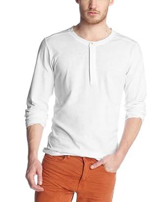 ESPRIT Herren Langarmshirt Slim Fit 033EE2K022, Gr. 41/42 (L), Weiß (100 white)