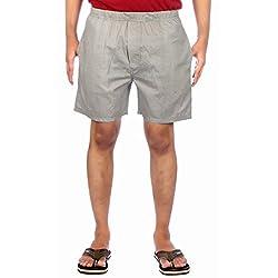 Aaduki Men's Cotton Shorts_Grey_XXL