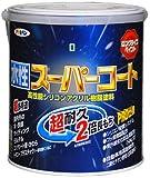 アサヒペン ペンキ 水性スーパーコート 水性多用途 ツヤ消し白 1.6L