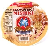 nishiki cooked brown rice steamed  microwable in 1 min amp 30 second - 74oz 12 units 011152107905