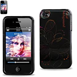 Protector Cover IPHONE 4S Snap On Hard Case Floral Background Design 2DPC-IPHONE4S-7392
