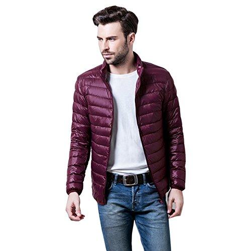 Botetrade Herren Marke im Freien 90% Ente Daunenjacken Parka Sport Jacket Bordeaux XXXL