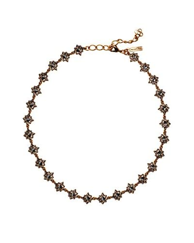 Oscar de la Renta Black Crystal Delicate Star Necklace