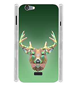 Graphical Deer Soft Silicon Rubberized Back Case Cover for Oppo Neo 5 (2015)