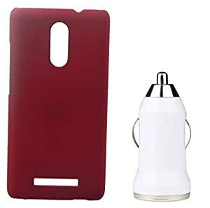 Toppings Hard Case Cover With Car Charger For Xiaomi Redmi Note2Pro - Red