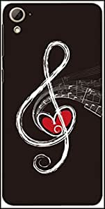 Snoogg Note Of Love Designer Protective Back Case Cover For HTC Desire 826