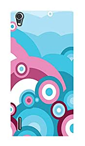 ZAPCASE PRINTED BACK COVER FOR HUAWEI ASCEND P7- Multicolor