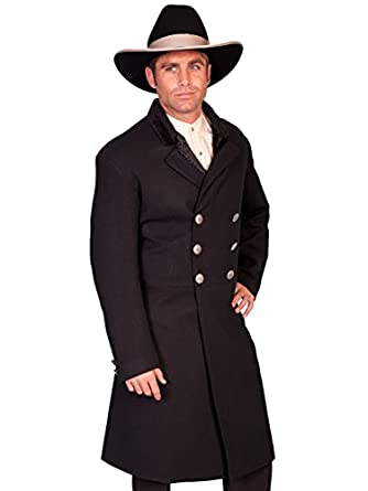 Victorian Men's Clothing Double-Breasted Frock Coat  AT vintagedancer.com