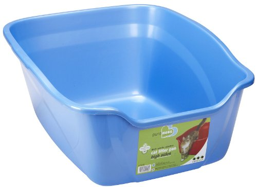 Pureness Giant High Sides Cat Litter Pan, Colors may Vary. (Pureness Cat Pan compare prices)