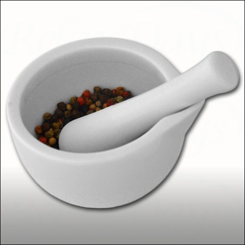 Porcelain Mortar with Spout and Pestle 300 ml