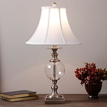 glass ball table lamp great for any nightstand this 25 tall vintage lamp is a stylish addition. Black Bedroom Furniture Sets. Home Design Ideas