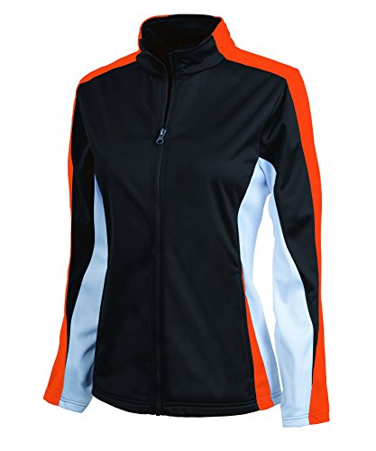 Charles River Women's Energy Jacket and Pant Set - Many Colors (Small, Black/Orange/White)