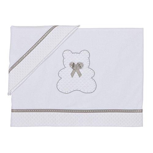BOLIN BOLON, Set di lenzuola per lettino, 60 x 120 e 28 x 55 cm, Bianco (Blanc)