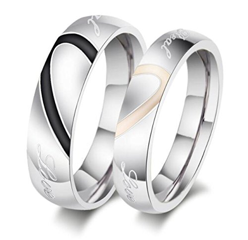 Phantom YoYo Lover's Heart Shape Titanium Mens Ladies Promise Ring