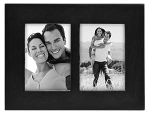 "Linear Black Picture Frame 2.5x3.5"" Split Double"