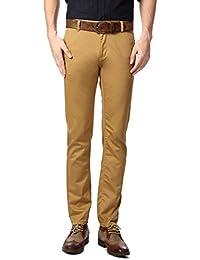 Peter England Khaki Trousers - B01CGN0LPW