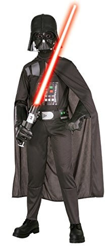 Boys Darth Vader Kids Child Fancy Dress Party Halloween Costume