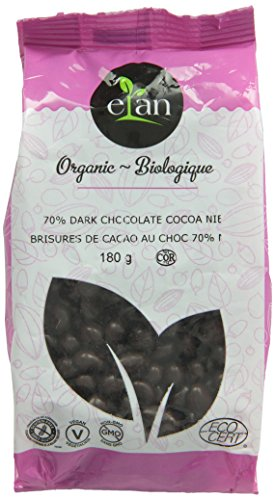 ELAN Organic 70-Percent Dark Chocolate Cocoa Nibs, 0.18Kg