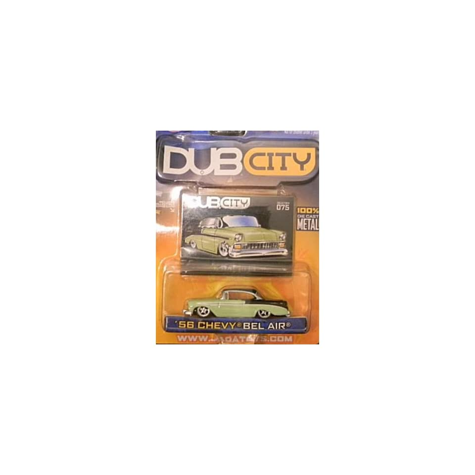 Jada Dub City Green and Black 1956 Chevy Bel Air 164 Scale Die Cast Car