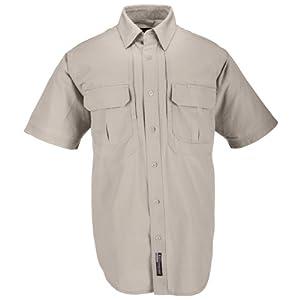 5.11 #71152 Cotton Tactical Short Sleeve Shirt (Khaki, 3X-Large)