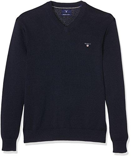 gant-jungen-pullover-cotton-v-neck-blau-marine-410-110-herstellergrosse-110-116