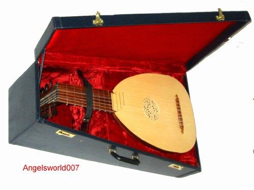 Angelsworld Mittelalterliche Laute Lute Mandoline Koffer+ Lehrbuch
