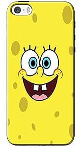 EU4IA Sponge Bob Face Pattern MATTE FINISH 3D Back Cover Case For iPhone 5s - D089