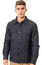 WeSC Quilted Shirt Jacket Small Blue