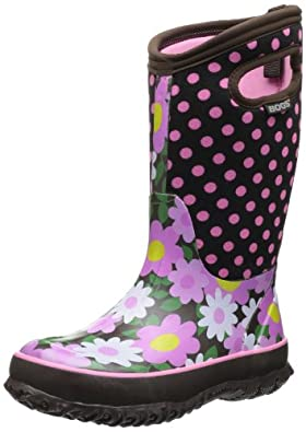 Buy Bogs Classic High Flower Dot Waterproof Boot (Toddler Little Kid Big Kid) by Bogs