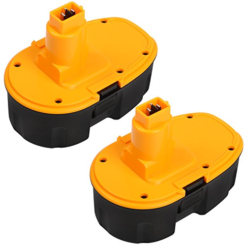Enegitech 2 Pack Battery For DeWalt 18V 2.0Ah XRP DC9096 DC9099 Replacement High Capacity Cordless Power Tools (Pod-Style) (Grinder Plans compare prices)