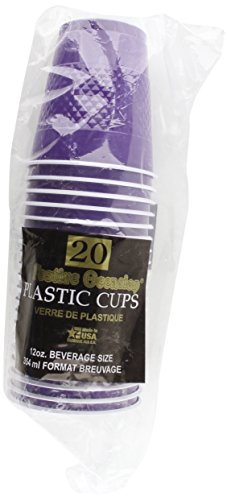 Purple Plastic Cups, 20ct