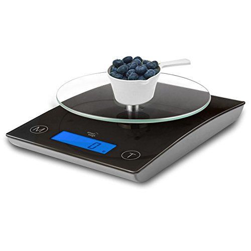 Smart Weigh GLS40 Glass Electronic Kitchen Scale