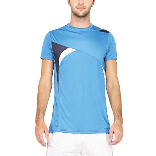Campus Sutra Men Odourless Half Sleeve Round Neck Light Blue Dryfit Jersey(SS16OD_JRRNHSDBK_M_PLN_LBUBU_XL)