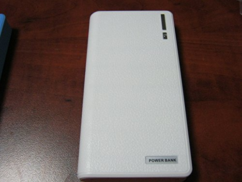 Power Bank 20000Mah Business Power Bank Fast Charging High Capacity For Apple Iphone Ipad, Galaxy S4 S3, Smartphone, Android Phone Etc. Color White