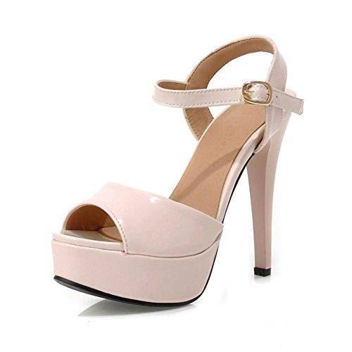 Moda a spillo peep toe/ Super sexy tacco alto scarpe-A Lunghezza piede=24.3CM(9.6Inch)