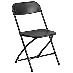 White or Black Plastic Folding Chair
