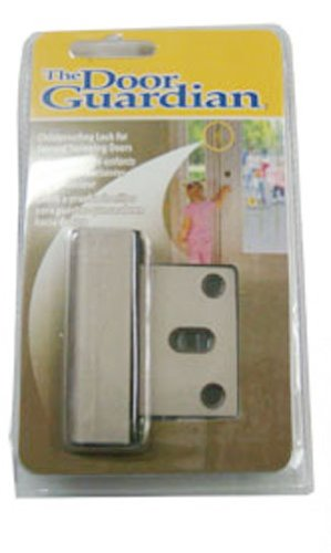 The Door Guardian Childproofing Lock Colors: Satin Chrome front-15948