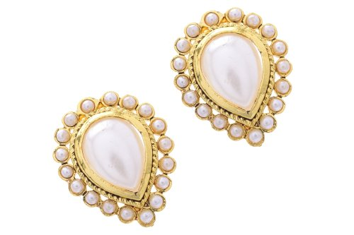 BEAUTIFUL WHITE PEARLS TOPS FROM HYDERABAD JEWELS