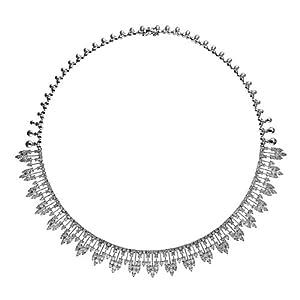 18k 12.01 Dwt Rough Diamond White Sparkle Fancy - 18 Inch Necklace - JewelryWeb
