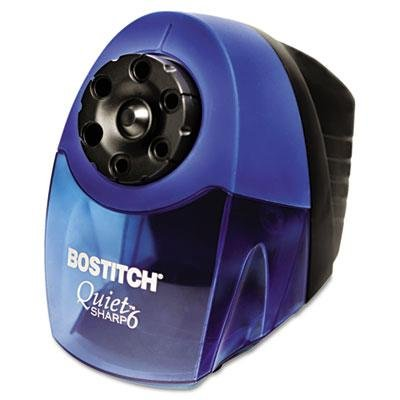 Stanley Bostitch Quiet Sharp 6 Commercial Desktop Electric Pencil Sharpener, Blue, 3 Ct