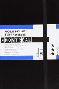 Moleskine City Notebook MONTRÉAL Couverture rigide noire 9 x 14 cm