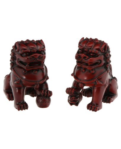 Foo (Fu) Dogs Statues: Chinese Guardian Lion Statue 4 Inches Tall ...