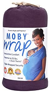 Moby Wrap Organic 100% Cotton Baby Carrier, Eggplant (Discontinued by Manufacturer)