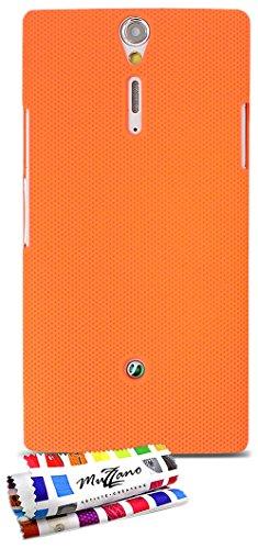 """ORIGINALE Schutzschale Orangefarben """"Le Pika"""" Premium von MUZZANO für SONY LT26 / LT26i"""