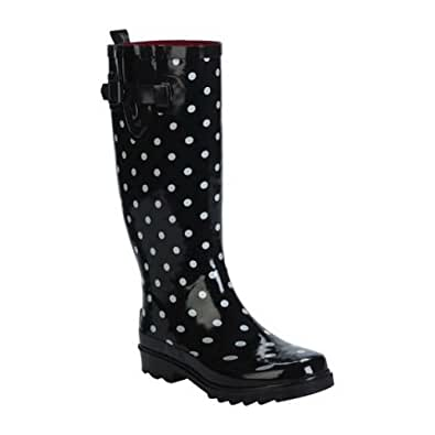Amazing  Page  Women39s Capelli Rainbow Polka Dot Rain Boots  Wide Calf