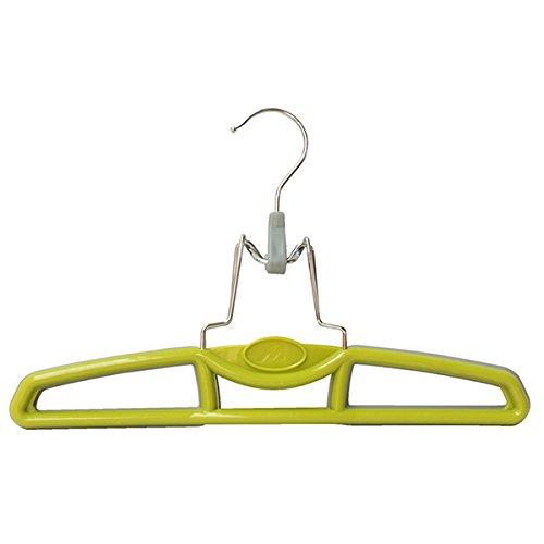 Mondex ITS172-25 Cintre Pince Pantalon Antidérapant avec Crochet Tournant Plastique Vert 29 x 2 x 18,5 cm