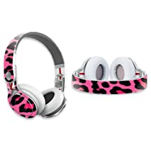 MightySkins Protective Vinyl Skin Decal Cover for Dr. Dre Beats Mixr Headphones Sticker Skins Pink Leopard