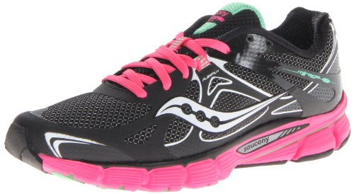 Saucony Women's Mirage Running Shoe,Black/Green,9 M US