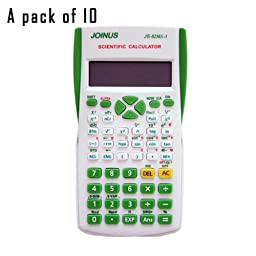 JOINUS JS-82MS-3 10 Digit And 2-Line Scientific Calculator-White (Pack of 10)
